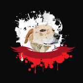 矢量有趣的狗的头 — 图库矢量图片