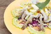 Raw prawns in spicy sauce - Thai food  — Stock Photo