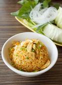 Fried rice with garlic  — Stock Photo