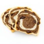 Raisin chocolate bread on white background — Stock Photo #48227551