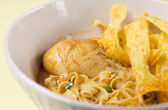 Egg Noodle with Chicken in Curry Soup  — Stock Photo