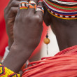 Unidentified Samburu woman jewelry — Stock Photo