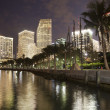 Miami bay at night — Stock Photo