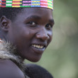 A moment in the life of the Hadza tribe of Lake Eyasi in Tanzania — Foto Stock