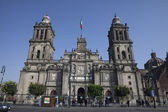 Cathedral of Mexico City in Plaza Zocalo — Stock Photo