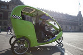 A three wheeled taxi — Stock Photo