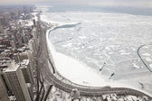 Chicago in winter — Stock Photo