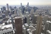 Michigan Avenue in winter time in Chicago. — Stock Photo