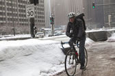 Michigan Avenue in winter time in Chicago — Stock Photo