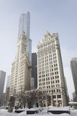 Michigan Avenue in winter time in Chicago. — Stock Photo