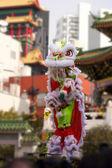 Chinese lion dance — Stock Photo