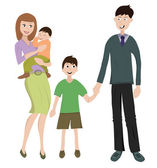Family with two childs — Stock Vector