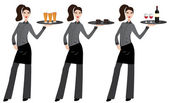 Waitress — Stock Vector