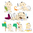 Baby Set Pack Hazard Danger Cartoon — Stock Photo #38690965