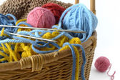 Basket for handicrafts — Stock Photo