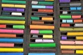 Crayons in a box — Stock Photo