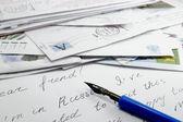 Briefe schreiben und stift — Stockfoto