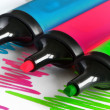 Foto Stock: Colored markers