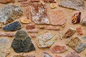 Parete di grandi rocce e sabbia — Foto Stock