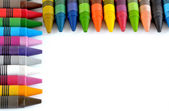 Colorful crayons,background — Stock Photo