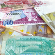 Paper money of different countries — Stock Photo