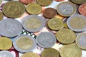 Denaro metallico vecchio e nuovo centesimi di euro — Foto Stock
