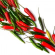 Chili pepper red and green — Stock Photo