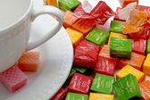 Dessert for tea — Stock Photo