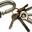 Old rusty castle and bunch of keys — Stock Photo #36567803