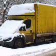 Truck snow swept up — Stock Photo