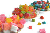 Different sweets isolated on white background — Stock Photo