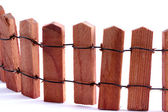 Wooden fence model macro — Stock Photo