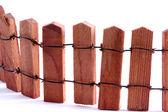 Dřevěný plot modelu makro — Stock fotografie