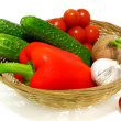 Stock Photo: Vegetables in the basket