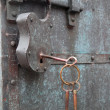 Stock Photo: Constipation of old door latch and lock