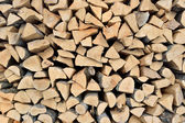 Stack of wood of fire wood — Stock Photo