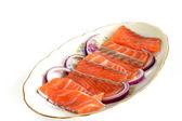 Rodajas de salmón por un sandwich — Foto de Stock