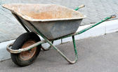 Cart download for garden work — Stock Photo