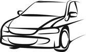 Ilustração simples com um carro — Vetorial Stock