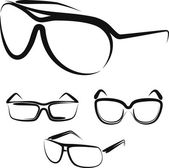 Illustration with a set of glasses — Stockvector