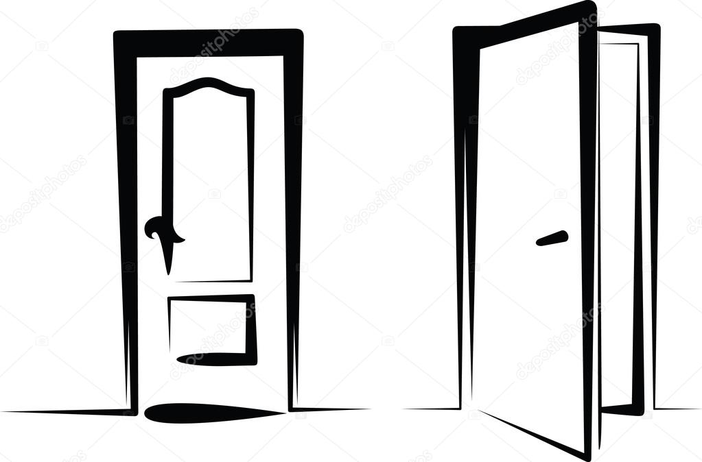 Open Door Icon Vector And Open Door Vector by