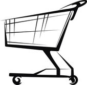 Simple illustration with a cart — Stock Vector