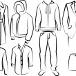 Collection of men clothes — Stock Photo