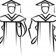 Stock Photo: Simple illustration with graduate