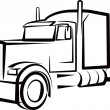 Stock Photo: Simple illustration with truck