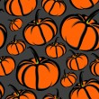 Seamless background with pumpkins — Stock Photo