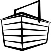 Illustration with a store basket — Stock Photo