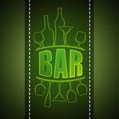 Bar card design — Stock Photo