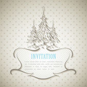 Vintage invitation card — Stockfoto