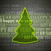 Background with christmas tree — Stock Photo